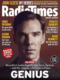 RADIO TIMES (November 15-21, 2014) ~ Benedict Cumberbatch as Alan Turing in THE IMITATION GAME on the cover.