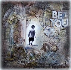 Mixed Media canvas. Be You canvas - Scrapbook.com