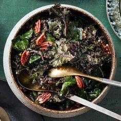 Salads - Kale & Collard Salad with Lemon Dressing