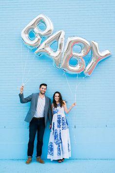 Baby Balloon Announcement or Reveal Idea