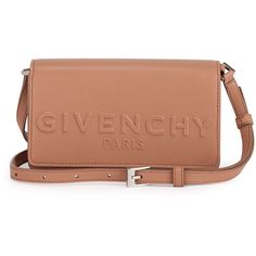 Givenchy Debossed Leather Crossbody Bag ($1,045) ❤ liked on Polyvore featuring bags, handbags, shoulder bags, light pink, beige leather purse, leather purses, genuine leather shoulder bag, leather cross body purse and crossbody shoulder bags