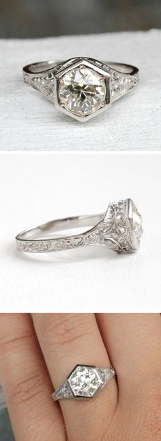 Love the details in antique diamond rings