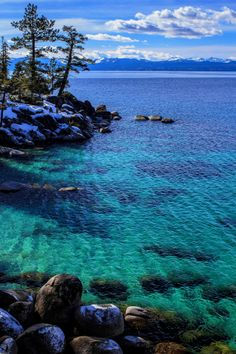 'Tahoe's East Shore on a Winter Afternoon' by sellsworth Lake Tahoe, Nevada