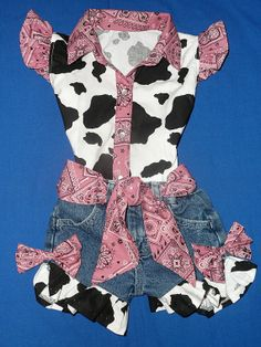 Blush pink bandana print, upcycled denim shorts and custom made matching blouse,  Summertime rompwear