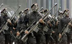 Mexican Army Special Forces (Fuerzas Especiales Michoacán) with the Barrett M82 Sniper and Anti-Materiel Rifle.