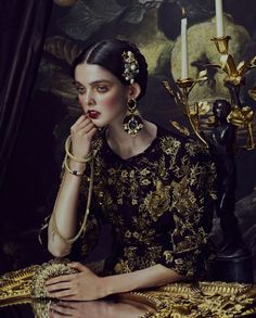 Andrew Yee Captures Baroque Style for How to Spend It Magazine Balmain, Dolce & Gabbana, Lanvin, Valentino