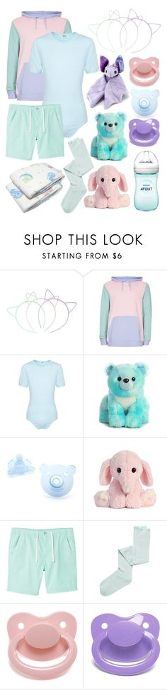 """""""Pastel Little One (age regression, etc.)"""" by transboyfanboy ❤ liked on Polyvore featuring Hot Topic, Topman, MANGO MAN and Intimately Free People"""