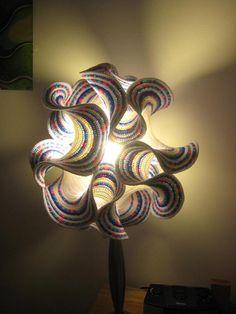 odd / wacky lamp design - hyperbolic curves by Gabriele Meyers