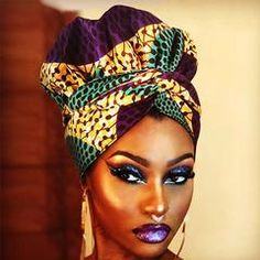 African Print Head Wrap With Satin-Lined(Enchanted Lady) – Anewow African Women, African Fashion, Style Turban, Hair Wrap Scarf, Head Band, African Head Wraps, African Attire, African Hairstyles, Your Hair