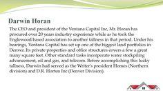 Darwin Horan – CEO of land advancement organizations