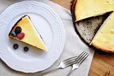 hruskovy cheesecake Kitchen Stories, Ricotta, Pear, Pancakes, Cheesecake, Fresh, Breakfast, Ethnic Recipes, Sweet