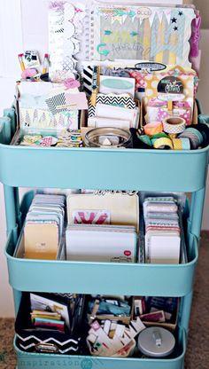 Heidi Swapp Color Pop, Clear Pop organization Raskog cart