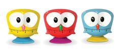 owl kitchen timer by Kikkerland Design (assorted colors)