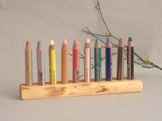 Stiftehalter Eibe für Buntstifte Kreide Woody