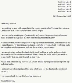 Cover Letter for a Sales Assistant - Job Seekers Forums | nilbert ...