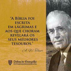 """Reflexões da """"Bíblia Sagrada e seus livros"""": A.W.Tozer """"A Bíblia foi escrita em lágrimas..."""""""