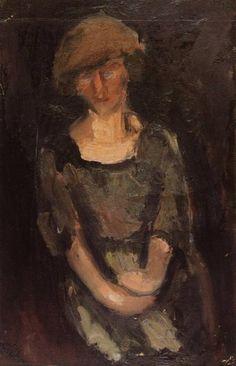 Portrait of a Woman, George Bouzianis Greek Paintings, Painter, Image, Painting, Art, Pictures, Portrait