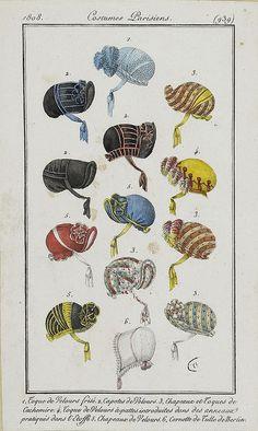 Bonnets, 1808 costume parisien