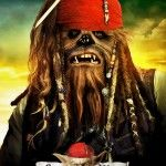 Star Wars movie poster mash-up. Chewbacca meets Jack Sparrow. It works... #fb