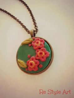 ~RedFlowers in fimo {Handmade♡}