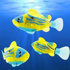 Peixe robótico Ativado Battery Powered Menino Natação Banho Brinquedos do animal de Estimação Aquário Decoração