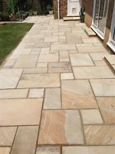 Good Indian Sandstone 22m2 Patio Pack Stone Fossil Mint Paving £399 FREE DELIVERY
