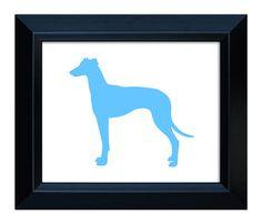 Greyhound Art  Handcut Dog Silhouette by MillerSyeShadows on Etsy, $19.00