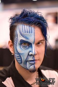 Face paintings created using Wolfe Face Art  FX's Hydrocolor Make-up   Make Up Brush Sets