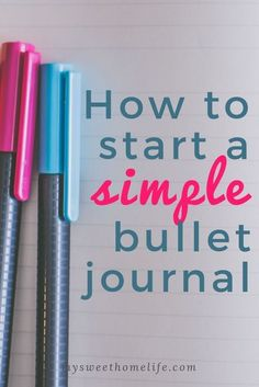 Wondering how to bullet journal? Here are some simple bujo tips for beginners to create a functional, useful and attractive bullet journal. Bullet Journal Inspo, Making A Bullet Journal, Bullet Journal For Beginners, Bullet Journal Ideas Pages, Bullet Journals, Bullet Journal How To Start A Simple, Journal Entries, Bujo, Planner Tips