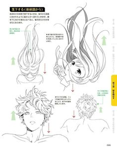 Top Tutorial and Ideas Manga Drawing Tutorials, Drawing Techniques, Art Tutorials, Manga Tutorial, Drawing Tips, Manga Hair, Anime Hair, Manga Japan, Art Sketches