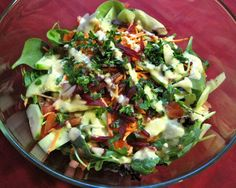 Simple Side Salad with Shallot-Dijon Vinaigrette
