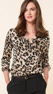 Printed Lace Blouse by Hale Bob on Animal Print Outfits, Animal Print Fashion, Leopard Print Cardigan, Casual Outfits, Cute Outfits, Blouse Styles, Blouses For Women, Ideias Fashion, My Style