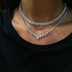 Visit Bjc Al-Aali Mall for Maria Gaspari's latest collection #Bjc #Bahrainjewellerycentre #MariaGaspari #Diamond #Necklace #Finejewellery #Bahrain #Italy