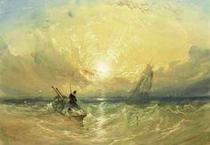 - Sunset off the Coast 1841 Heinrich Joseph Baermann (February 1784 -- June was a clarinet virtuoso of the. Miles Richardson, Thomas Miles, Sea World, Joseph, Coast, Sunset, Jr, Painting, Landscapes