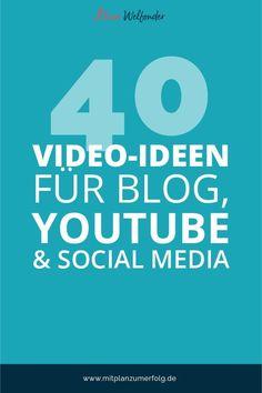 Video-Ideen zu finden ist nicht immer ganz einfach. Zumal sich unterschiedliche Formate für Blog, YouTube oder Social Media empfehlen. Ich habe eine Auswahl von 40 Video-Ideen zusammengetragen.