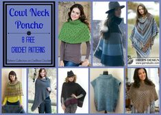 These cute cowl neck ponchos will keep you trendy, comfortable and cozy when paired up with your favorite outfit this Fall.