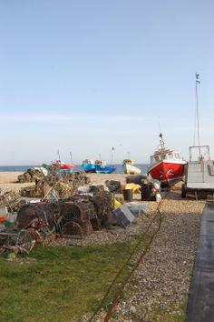 Working fishing boats on Beer beach | Devon | England