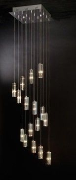 Icarus 16 Light Falling Chandelier - modern - Chandeliers - LBC Lighting