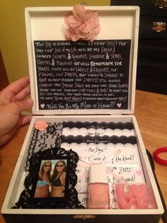 What an amazing way to ask your maid of honor! We are in love.