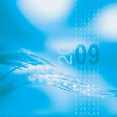 """Cartes de voeux - modèle """"Neptune"""" 2009 (Impression quadri sur PVC transparent posé sur papier argent) © COPY-TOP"""