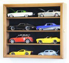 1/24 Scale Diecast Model Car Display Case Rack Holder 8 Cars Nascar Hot Wheels