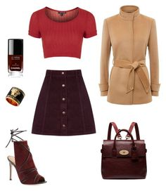 """Classic Twist"" by ila-rose ❤ liked on Polyvore featuring Topshop, Gianvito Rossi, Versace, Oasis, Jaeger, Mulberry, Chanel, women's clothing, women and female"