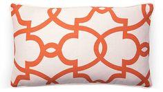 Dear 12x20 Cotton Pillow, Orange | The Quick Fix! | One Kings Lane