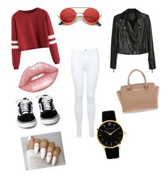 """""""Untitled #4"""" by dashaellis ❤ liked on Polyvore featuring Miss Selfridge, Paige Denim, ZeroUV, Michael Kors and Lime Crime"""