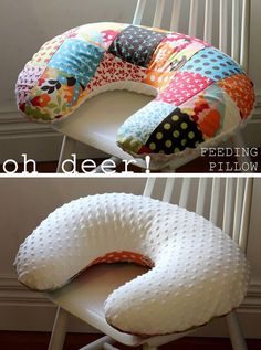 DIY boppy pillow, there is a link to a pattern that you can print out, but will need to cut it out and tape it together. Or you can buy one of several ready made patterns that is ready to use. Make sure you make the pillow then a couple of covers so you can wash the covers as they need it.