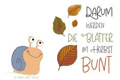 "Schneckelinchen erklärt: Darum werden die Blätter im Herbst bunt. That's why the leaves turn colorful in the fall. A learning story with coloring page ""leaves"" for children in kindergarten and kindergarten. A freebie. Learning Stories, Stories For Kids, Yoga For Kids, Art For Kids, Kindergarten Portfolio, Diy And Crafts, Crafts For Kids, Kindergarten Activities, Coloring Pages For Kids"