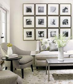 living room wall art decor modern furniture neutral colors white sofa