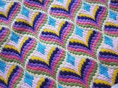 A bright piece of Florentine bargello needle work from the or fabulous colors of light sage, rose pink, deep lilac, purple,vintage bright Florentine by fabriquefantastique on Etsystill have to try some bargello needlework. so much potential Bargello Needlepoint, Bargello Quilts, Broderie Bargello, Bargello Patterns, Needlepoint Stitches, Needlework, Cross Stitch Embroidery, Embroidery Patterns, Cross Stitch Patterns
