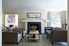 Tufenkian's Ripple Ocean Spray in Celia Welch Interiors designed A Revived Bethesda Home.   To learn more about the rug please click here:http://www.tufenkiancarpets.com/area-rugs-no-border/ripple-ocean-spray/14359/rugs.aspx