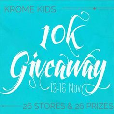 YAY! KROME KIDS HAS REACHED 10K FOLLOWERS!  Visit @elm_natural Next! To thank and show our appreciation for this milestone we are giving you the chance to win some amazing prizes from some amazing Insta businesses! There 26 stores and 26 prizes up for grabs. Here at @minimacko we are giving away a $30 Store Credit To enter: 1. LIKE this post so we know that youve entered 2. FOLLOW US @minimacko 3. HEAD TO @elm_natural next and repeat the above steps (ALL STORES MUST BE FOLLOWED  WE WILL BE…